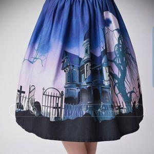 Unique Vintage Spooktacular 1950s swing skirt